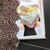 """""""Eye of the Tiger"""" aus dem Buch """"Noch mehr Mosaik-Tücher stricken"""""""