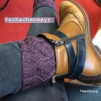 Open Work Socken von Crasy Sylvie für den #krönchenkal