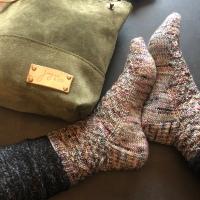 Gemology Socks aus #rockthewoolyarnclub