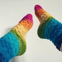 Intersection Socken aus Farbverlaufsgarn von Danielas Wolltopf